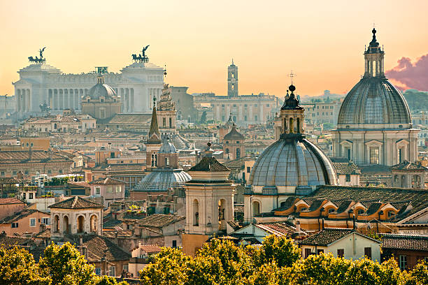 Rome, Italy. View of  Rome from Castel Sant'Angelo, Italy. rome italy stock pictures, royalty-free photos & images