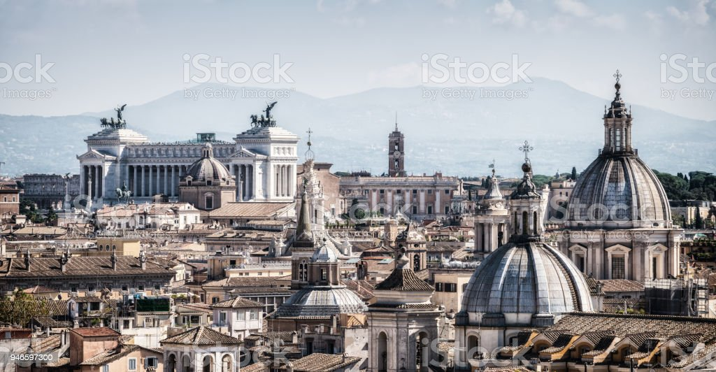 Rome, Italy Skyline in Panoramic View stock photo