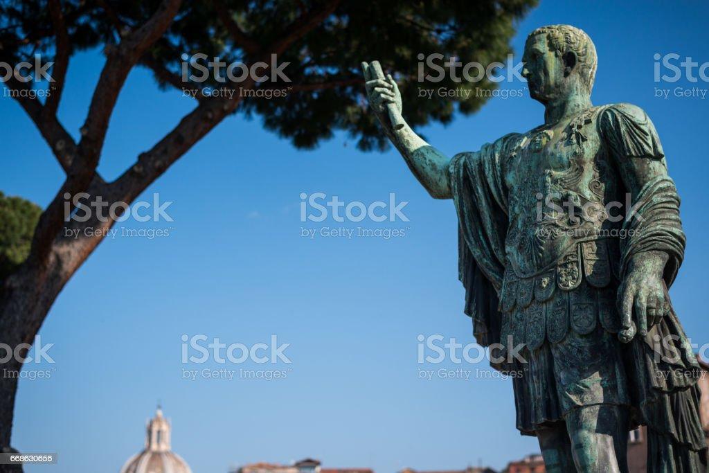 rome italy - statue Julius Caesar stock photo