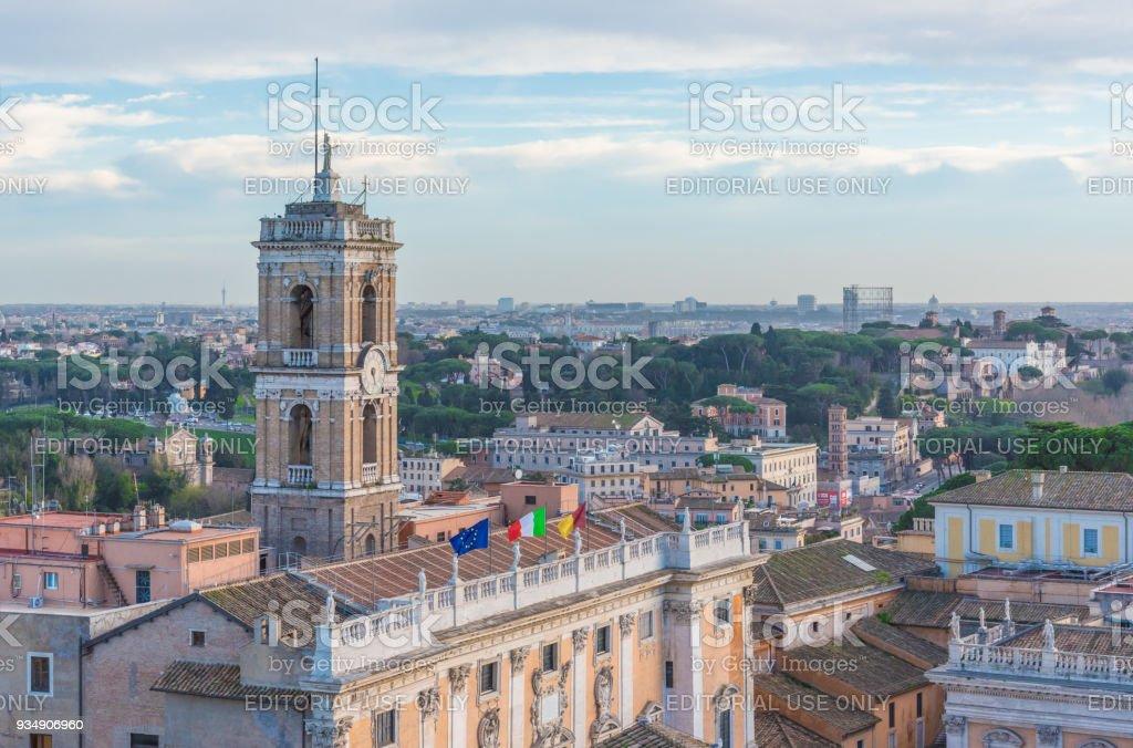 Rome, Italy - The Vittoriano monument stock photo