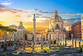 istock Rome, Italy.  Trajan's Forum with ruins of important ancient government buildings 942293408