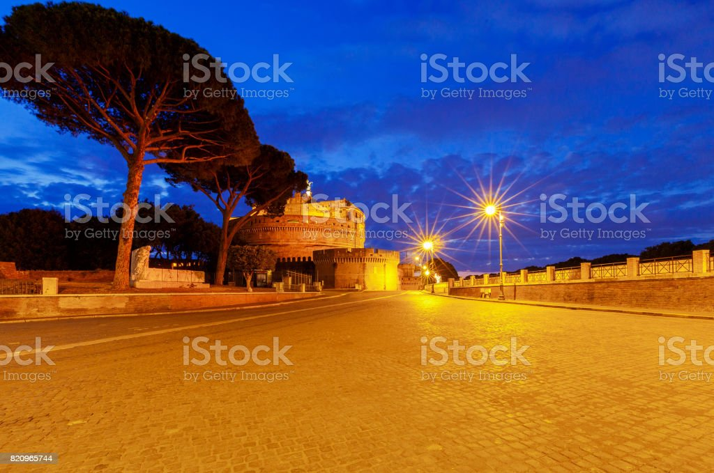 Rome. Castel Sant'Angelo. stock photo