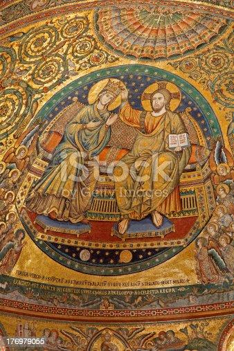 istock Rome - mosaic of holy Mary Coronation 176979055