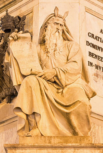 Rome - Moses statue on the Column of the Immaculate - foto de stock