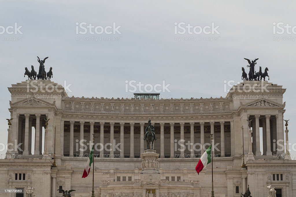 Rome, National Monument to the king Victor Emmanuel II royalty-free stock photo