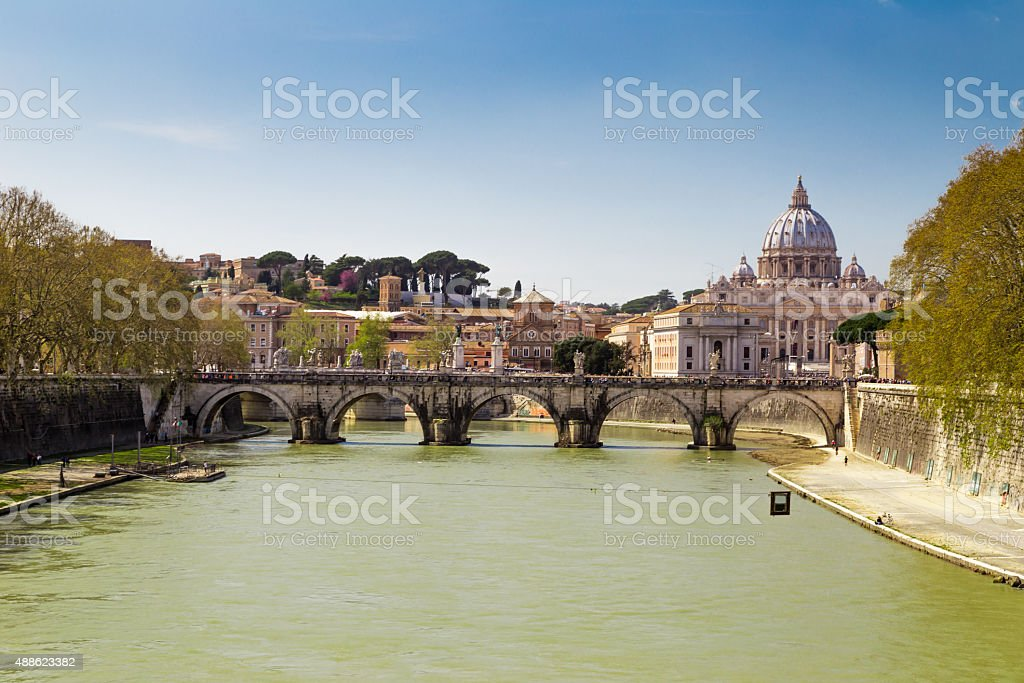 Rome on a sunny day, Italy stock photo