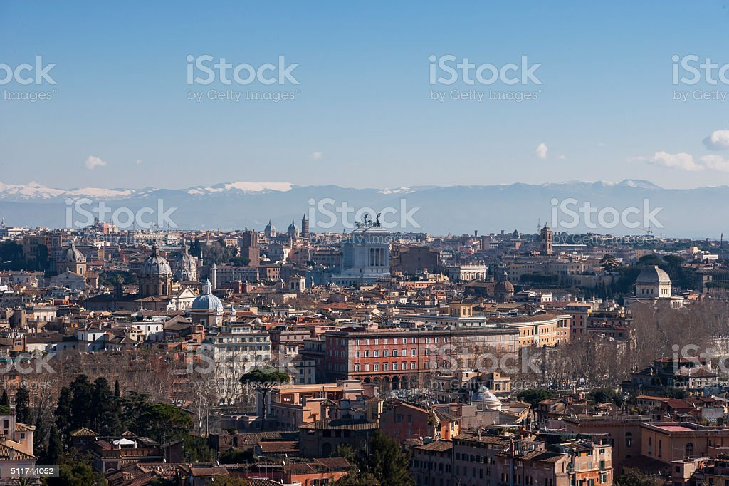 Rome. Overlook from Janiculum stock photo