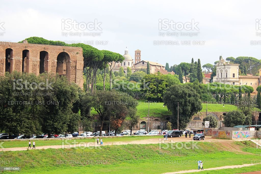 Rome panoramic view stock photo