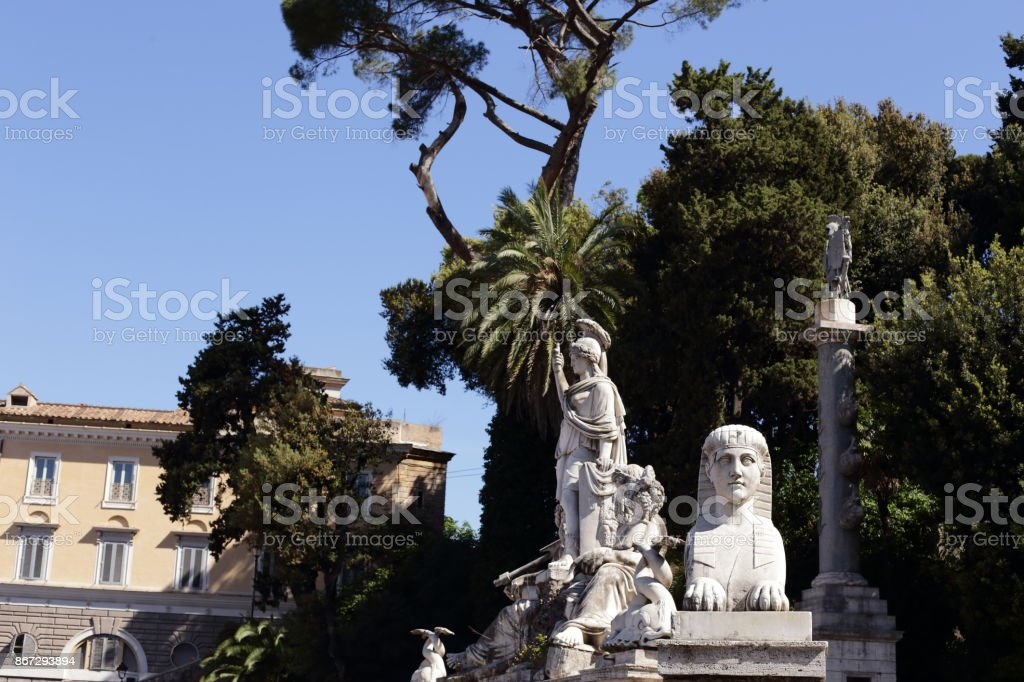 Rome - piazza del popolo stock photo