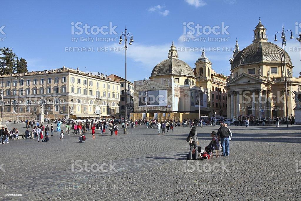 Rome - Piazza del Popolo royalty-free stock photo