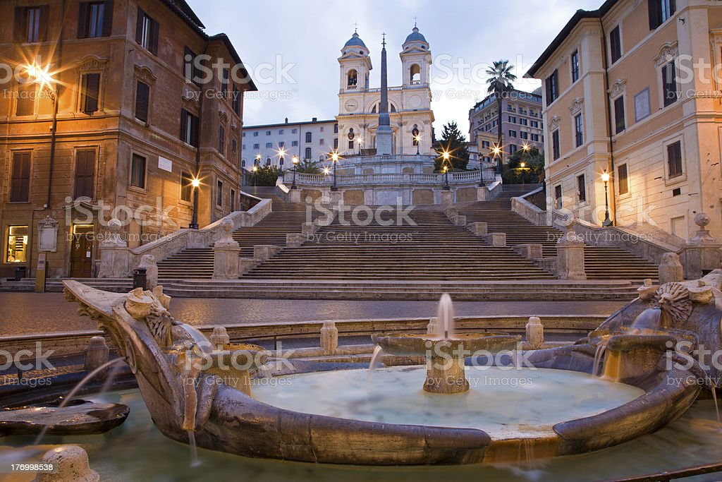 Rome - Piazza di Spagna in morning stock photo
