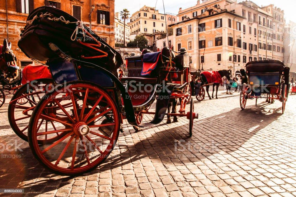 Rome, Piazza di Spagna stock photo
