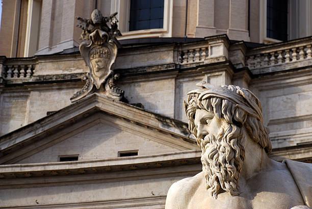 rom-piazza navona - papst benedikt xvi stock-fotos und bilder