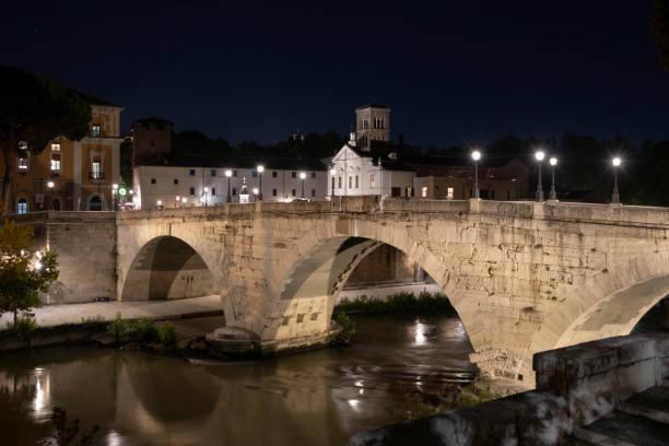 Rome, Ponte Cestio on the Tiber stock photo