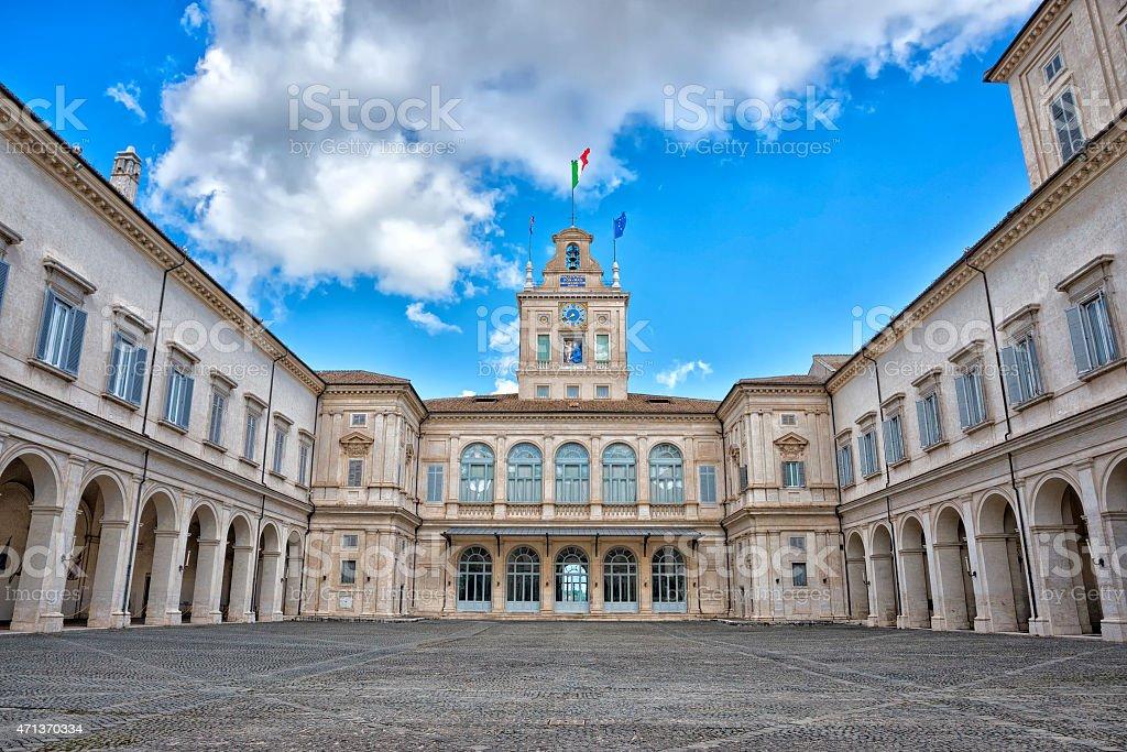 rome quirinale court stock photo