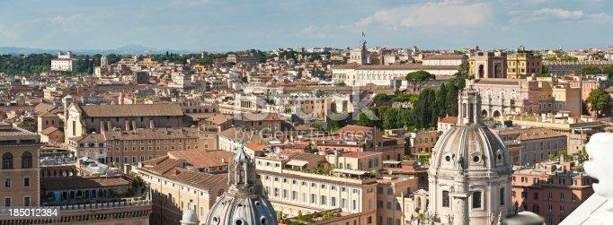 istock Rome Quirinale rooftop citycape panorama Italy 185012384