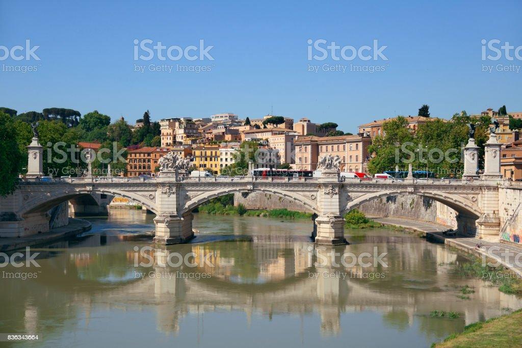 Rome River Tiber stock photo