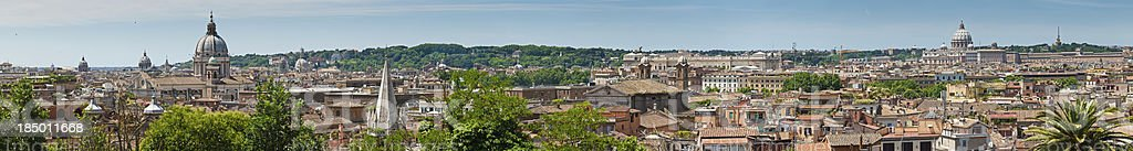Rome rooftop cityscape panorama Italy royalty-free stock photo