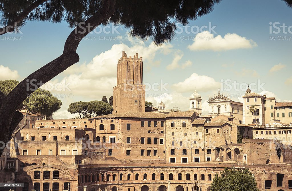 Rome ruin and old city royalty-free stock photo