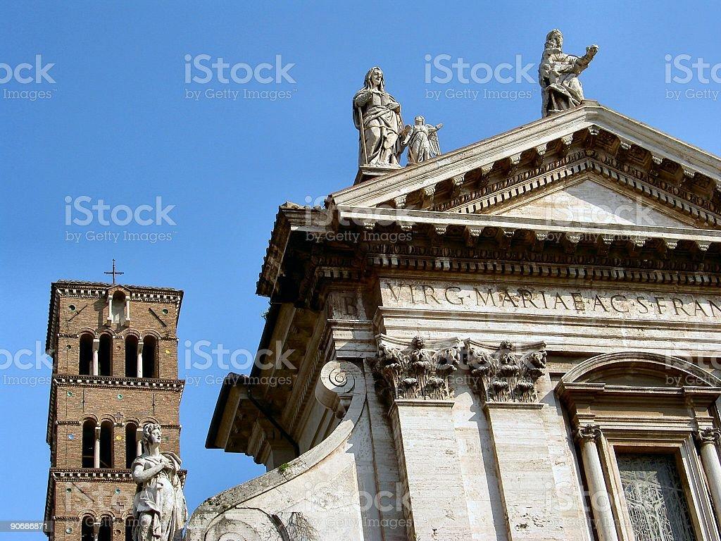 Rome: Santa Maggiore detail royalty-free stock photo