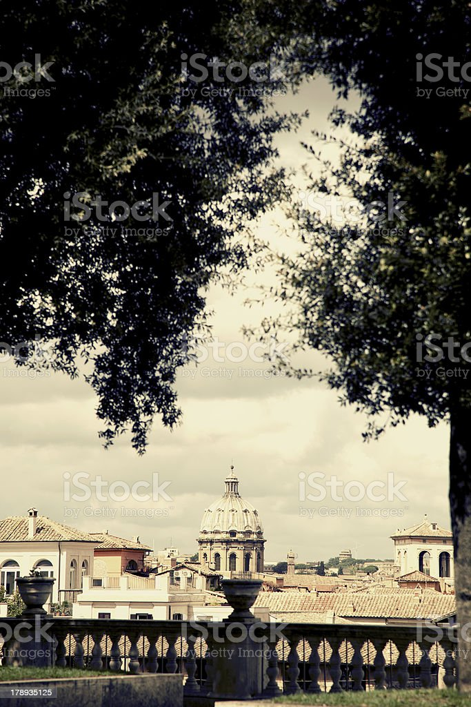 Rome skiline royalty-free stock photo