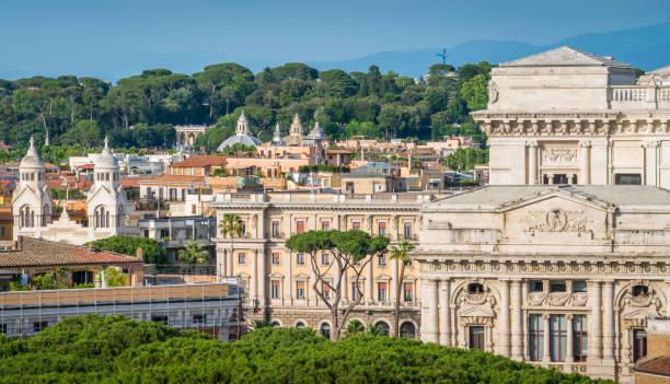 rome skyline - supreme court zdjęcia i obrazy z banku zdjęć