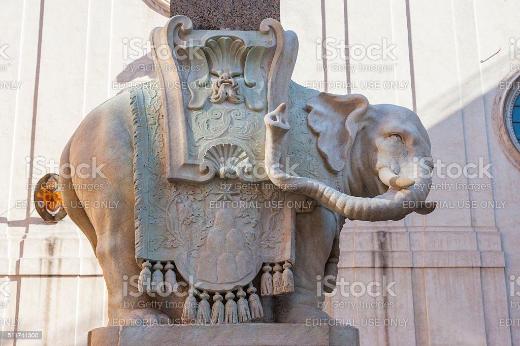 Roma. Praça de Santa Maria sopra Minerva. Obelisco della Minerva - foto de acervo