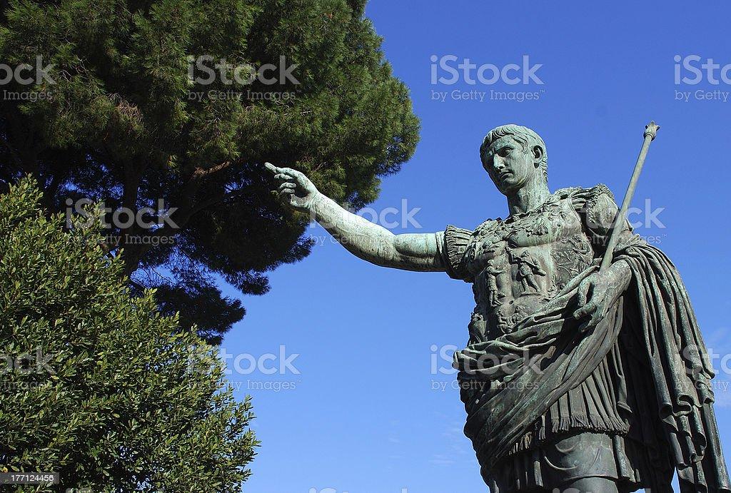 Rome - statua di Ottaviano stock photo
