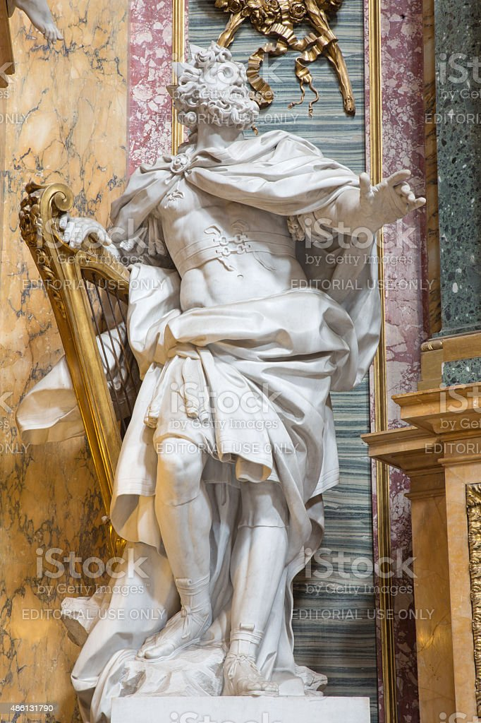 Rome - statue of The King David stock photo