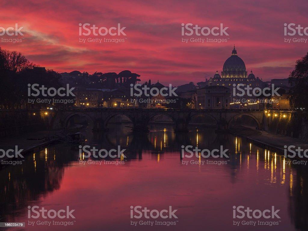 Rome sunset royalty-free stock photo