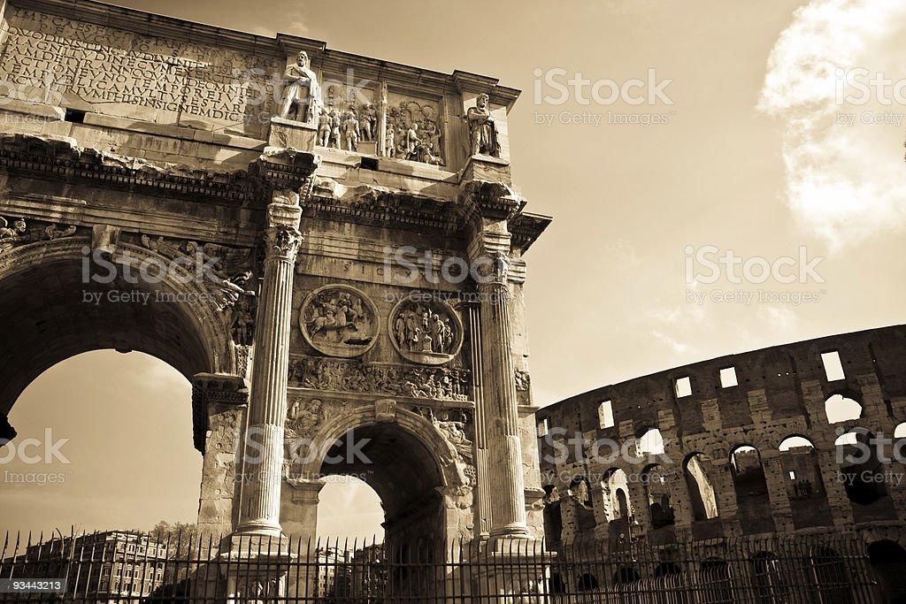 Rome symbols royalty-free stock photo