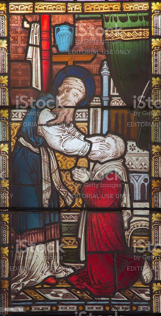Rome - The Ananias restoring sight to Saul stock photo