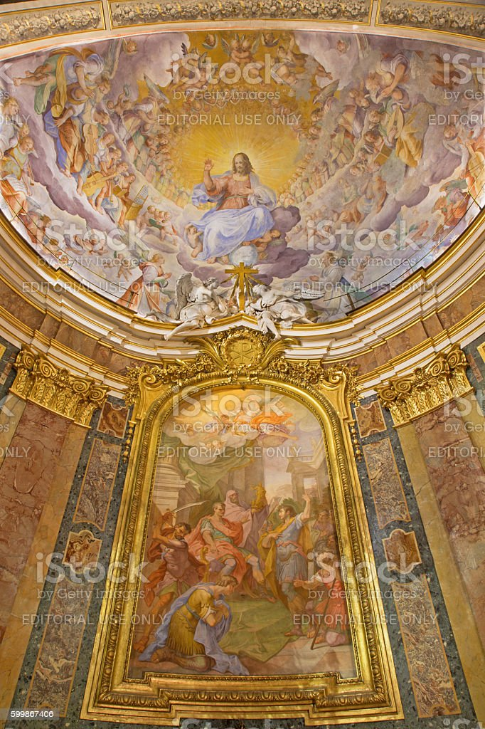 Rome - The Christ the Redeemer in Glory stock photo