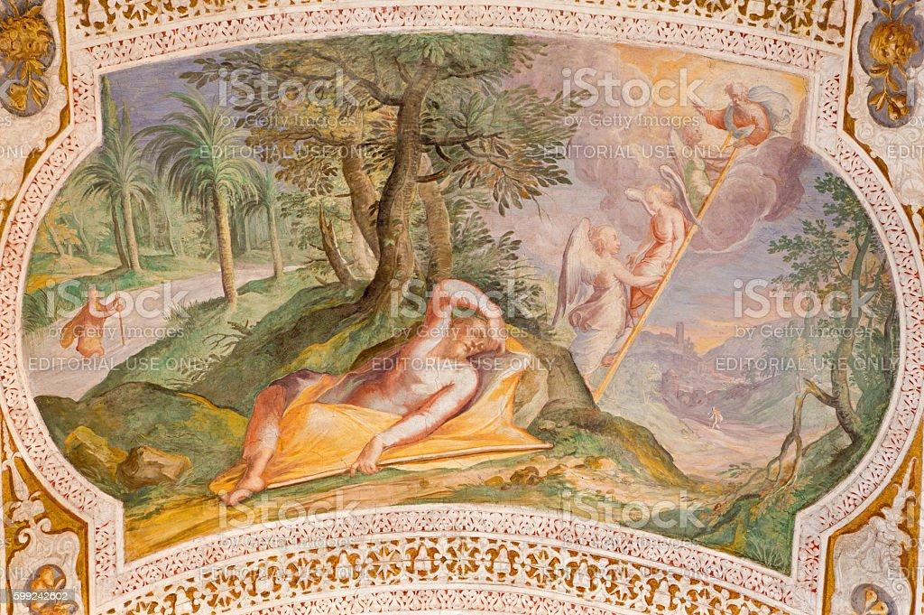 Rome - The fresco of Jacob's Ladder stock photo