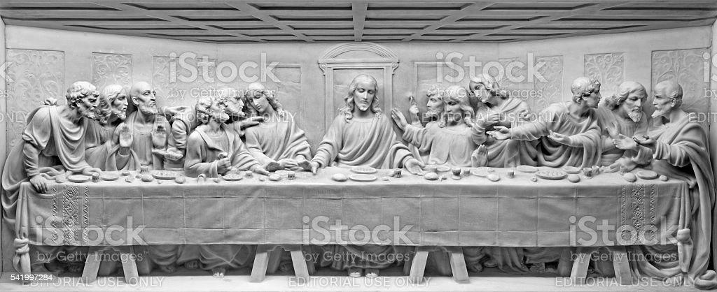 Rom – die letzte Abendmahl Marmor relief – Foto