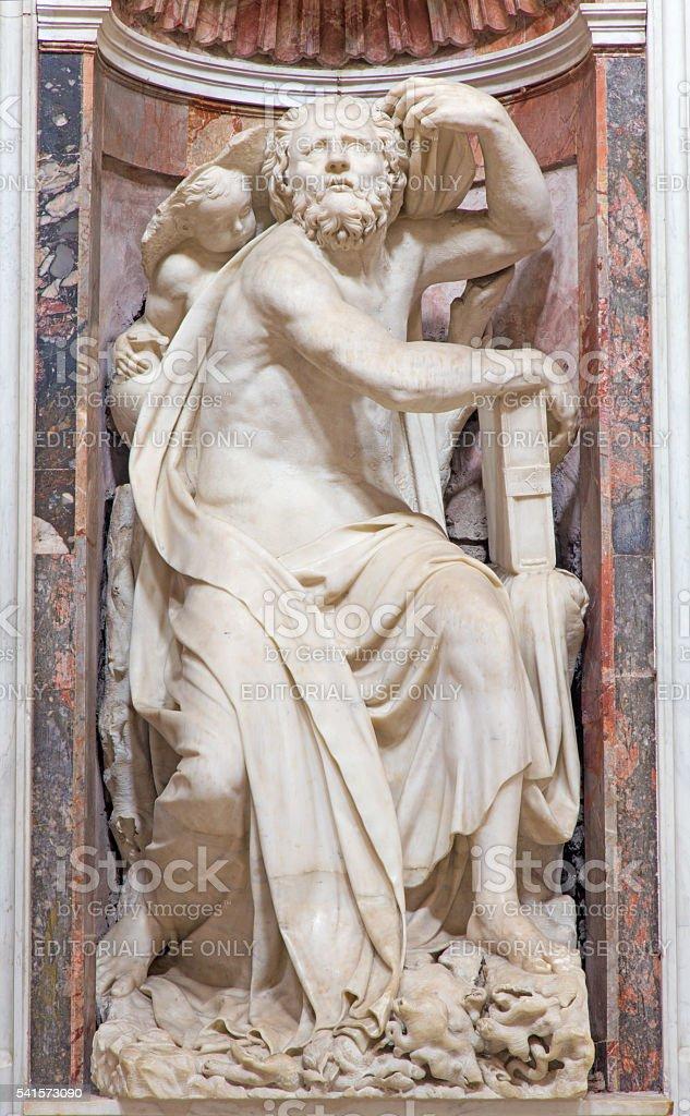 Roma-o profeta Habacuque Estátua de mármore - foto de acervo