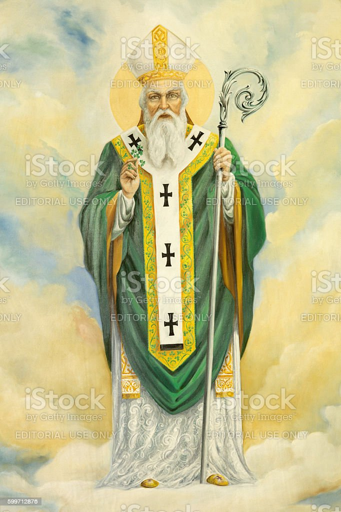 Rome - The St. Patrick painting stock photo