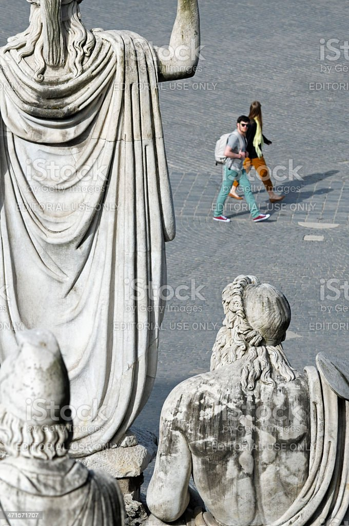 Rome Tiber Aniene royalty-free stock photo