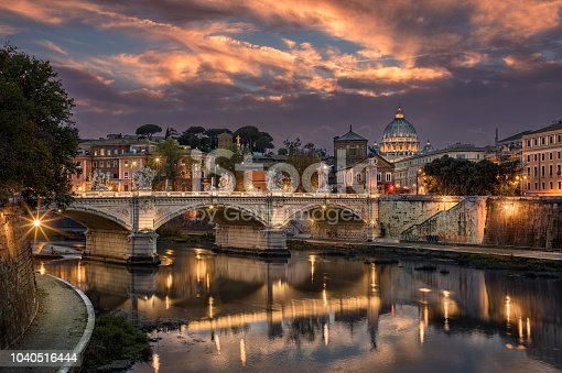 istock Rome Tiber & St. Peters Basilica, Vatican, Italy. 1040516444