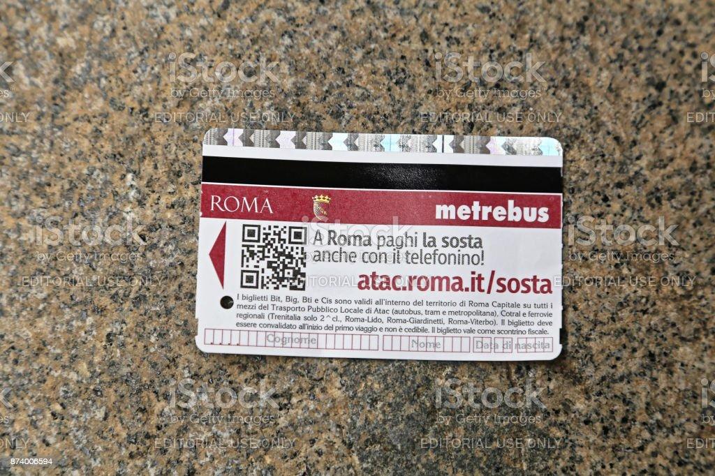 Rome Transport Ticket - foto stock