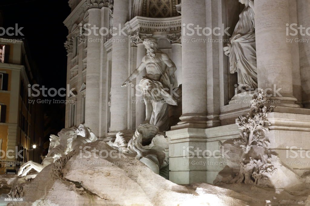 Roma  -  trevi fountain stock photo