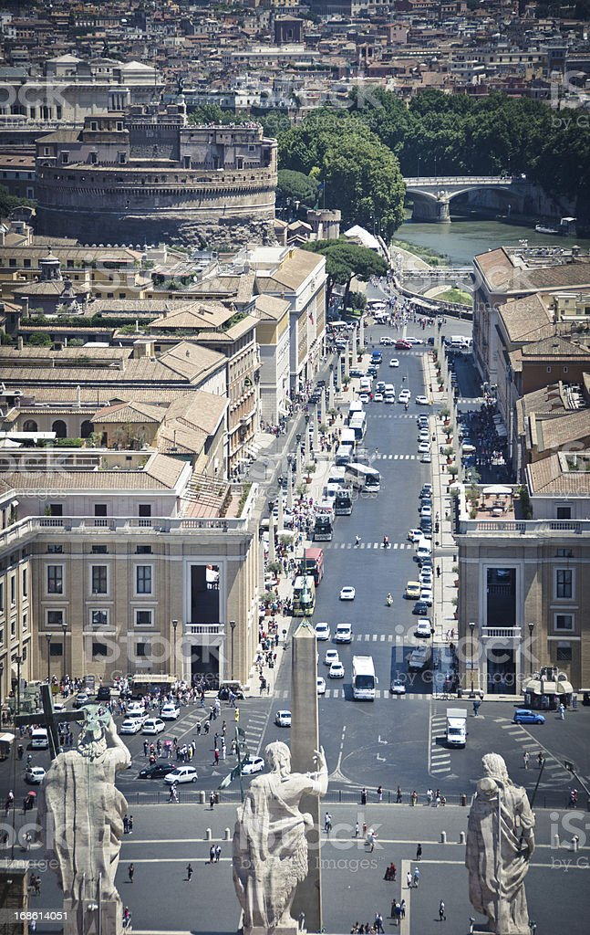 Rome View From Vatican royalty-free stock photo