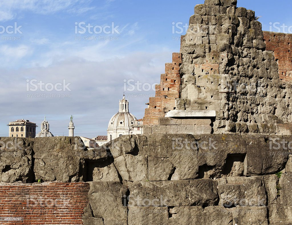 Rome Wall and Skyline royalty-free stock photo