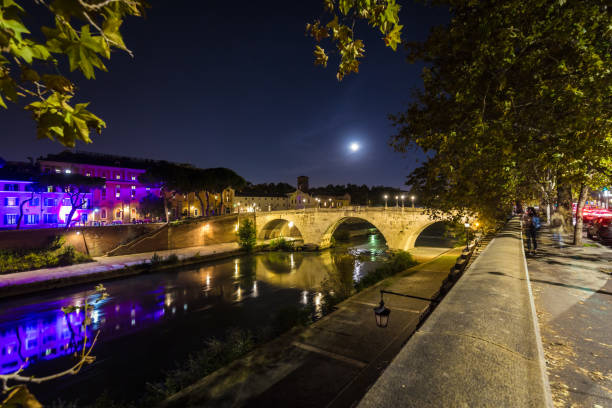 Rome with River Tiber Rome with River Tiber lazio stock pictures, royalty-free photos & images