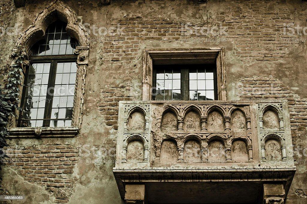 Romeo and Juliet balcony stock photo
