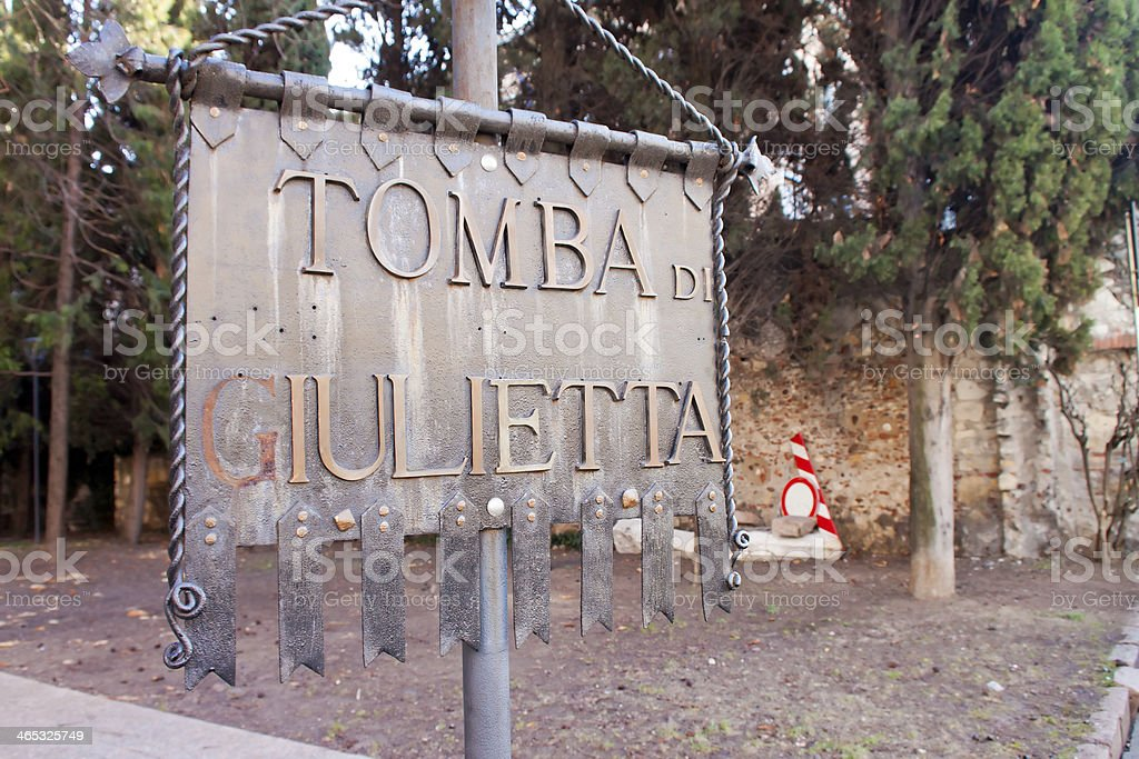 Romeo and Juliet Memorial near she's tomb stock photo