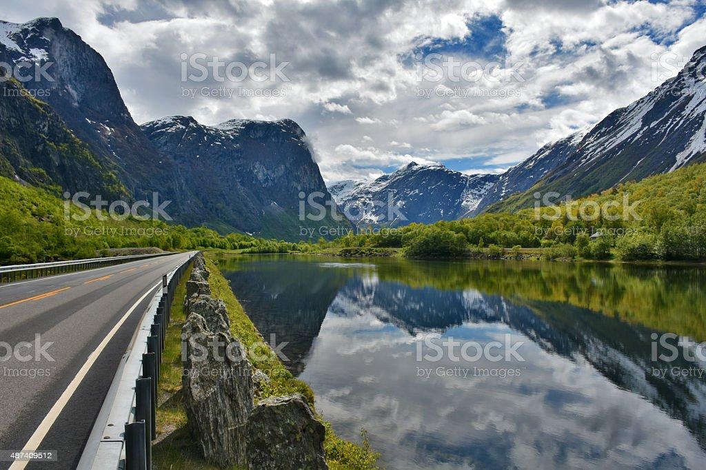Romsdalen Valley stock photo