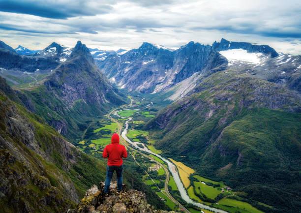 Romsdalseggen Ridge Norway stock photo