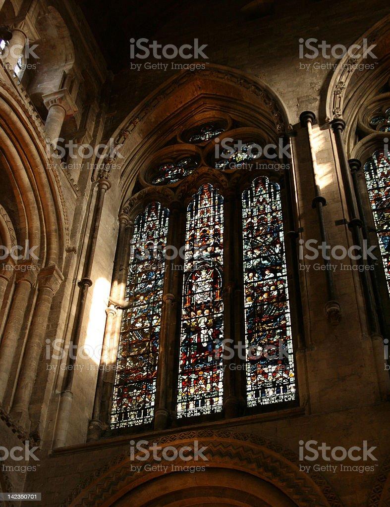 Romsey Abbey stock photo