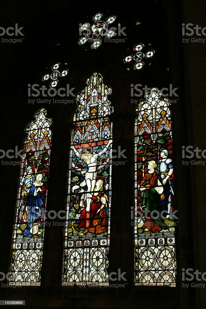 Romsey Stained Glass stock photo